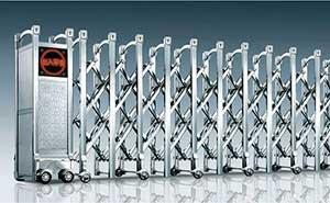 不锈钢伸缩门 - 瑞安-y - 白银中出网-城市出入口设备门户