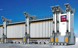 铝合金伸缩门 - 翔龙380A-GY - 白银中出网-城市出入口设备门户