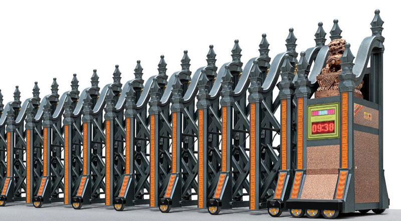 铝合金伸缩门 - 皇家雷神A(铝合金) - 白银中出网-城市出入口设备门户
