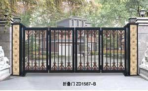 电动折叠门 - 折叠门ZD1587-B - 白银中出网-城市出入口设备门户