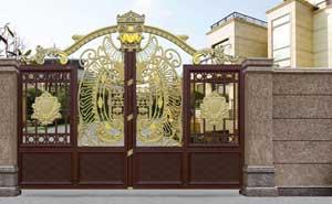 铝艺大门 - 卢浮魅影·皇族-LHZ-17112 - 白银中出网-城市出入口设备门户