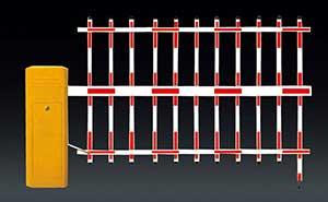 栅栏道闸 - BS-306A-B-双层栏栅道闸 - 白银中出网-城市出入口设备门户