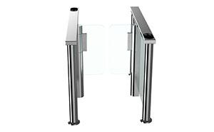 速通门 - 圆柱速通门5008E - 白银中出网-城市出入口设备门户