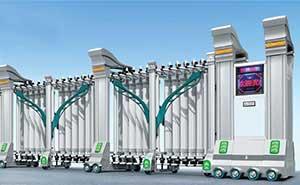 不锈钢伸缩门 - 雄狮-630B3 - 鹤岗中出网-城市出入口设备门户