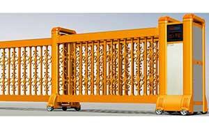 直线平移门 - 直线门904F(土豪金) - 鹤岗中出网-城市出入口设备门户