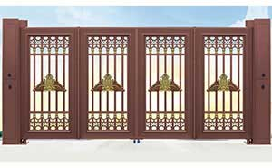 电动折叠门 - 智能悬浮折叠门007 - 鹤岗中出网-城市出入口设备门户
