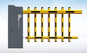 栅栏道闸 - 道闸ST-DZ02(栏栅型) - 鹤岗中出网-城市出入口设备门户