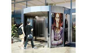 旋转门 - KAP100-广告门 - 鹤岗中出网-城市出入口设备门户