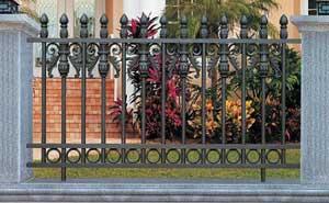 塘沽六大街围墙护栏案例 - 天津中出网-城市出入口设备门户