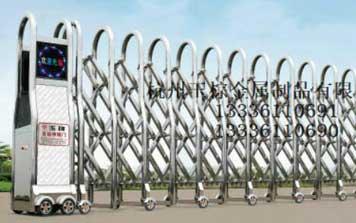 电动伸缩门 - 曲美B型 11-12伸缩门 - 杭州中出网-城市出入口设备门户