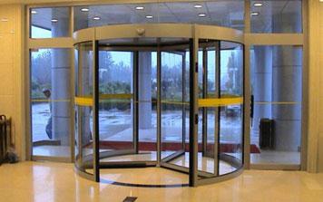 三翼旋转门 - 三翼氟碳喷涂自动旋转门