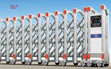 不锈钢伸缩门 - 金钻一号HL-JZA1不锈钢伸缩门 - 北京中出网-城市出入口设备门户