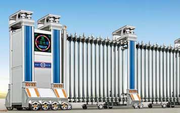 不锈钢伸缩门 - 科尼塞克一号HL-KNSK1不锈钢伸缩门 - 北京中出网-城市出入口设备门户