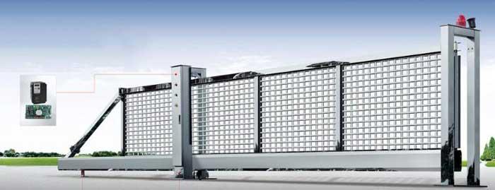 悬浮平移门 - 不锈钢悬浮门HL-XFA1 - 北京中出网-城市出入口设备门户