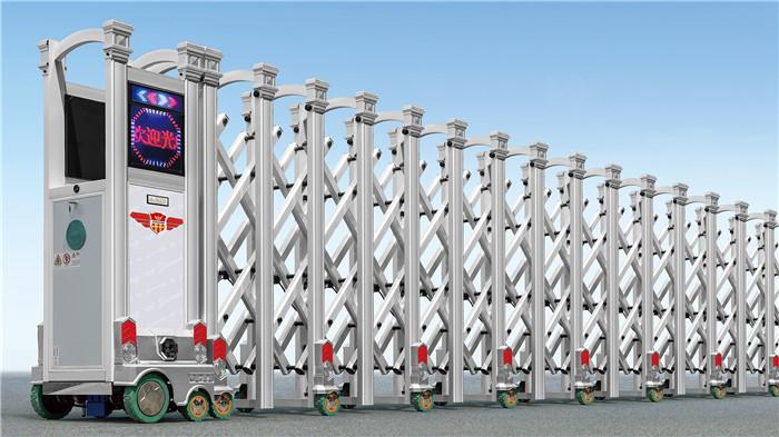 铝合金伸缩门 - 和谐卫士铝合金伸缩门 - 重庆中出网-城市出入口设备门户