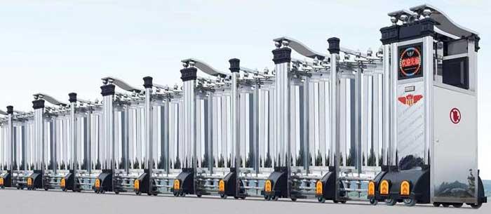 铝合金伸缩门 - 枭龙305A铝合金伸缩门 - 重庆中出网-城市出入口设备门户