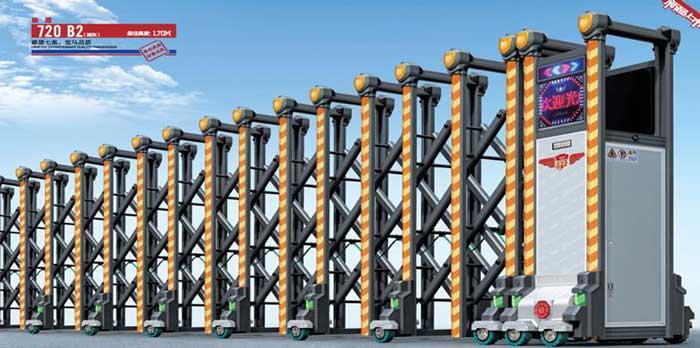 不锈钢伸缩门 - 雄盾720B2不锈钢伸缩门 - 重庆中出网-城市出入口设备门户