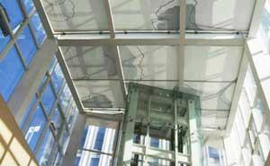 北京乐成中心顶部图案电动遮阳帘工程 - 北京中出网-城市出入口设备门户