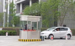 天津空港经济区管委会不锈钢收费亭案例