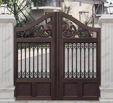 印东方采购了宁波出安智能别墅铝艺大门