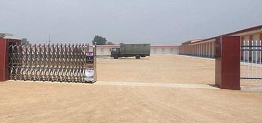 沧州格锐特钻头有限公司选用沧州出安智能伸缩门彰显个性