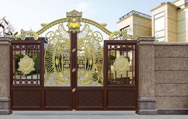 热烈祝贺鹤岗出安智能铝艺大门进驻鹤岗财富家园